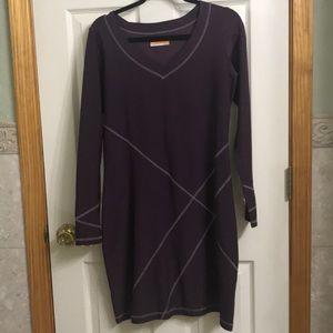Lucy Tech eggplant long sleeve dress size L